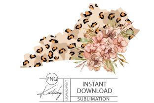 Print on Demand: Kentucky Leopard Sublimation-png File Graphic Illustrations By Tiana Geo