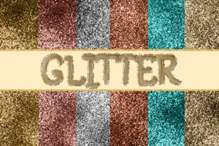 Metallic Glitter Texture with Background Graphic Textures By sugamiart
