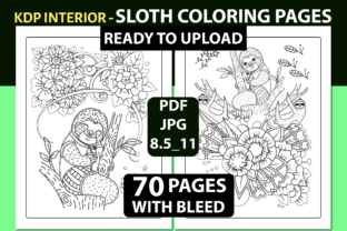 SLOTH COLORING PAGES - 70 PAGES Graphic Coloring Pages & Books By triggeredit