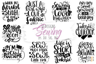 Print on Demand: Sewing and Crafters Bundle SVG Cut File Graphic Crafts By dapiyupi