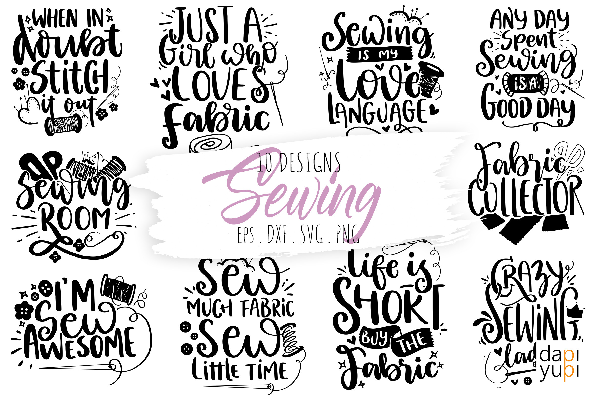 Sewing and Crafters Bundle SVG Cut File SVG File