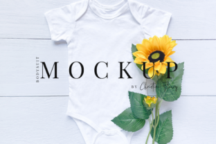 Print on Demand: Spring Sunflower Baby Bodysuit Mockup Graphic Product Mockups By Christine Fleury
