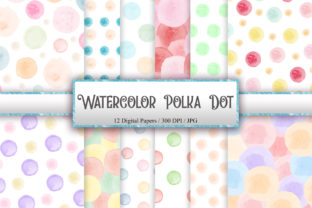 Print on Demand: Watercolor Polka Dot Seamless Pattern Graphic Patterns By PinkPearly