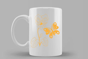 Butterflay and Flower Illustration-05 Graphic Illustrations By immut07
