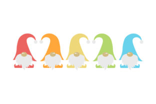 Urban Rainbow Gnomes Designs & Drawings Craft Cut File By Creative Fabrica Crafts