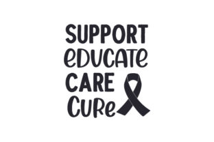Support Educate Care Cure Awareness Craft Cut File By Creative Fabrica Crafts
