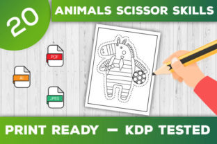 Print on Demand: Animals Scissor Skills Pages for Kids Graphic Coloring Pages & Books Kids By TrendColors 2