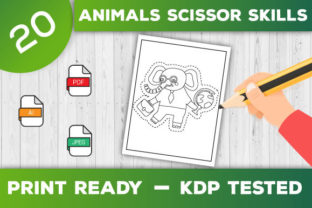 Print on Demand: Animals Scissor Skills Pages for Kids Graphic Coloring Pages & Books Kids By TrendColors 3