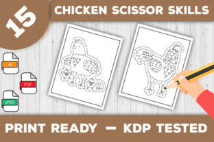 Print on Demand: Chicken Scissor Skills Pages for Kids Graphic Coloring Pages & Books Kids By TrendColors