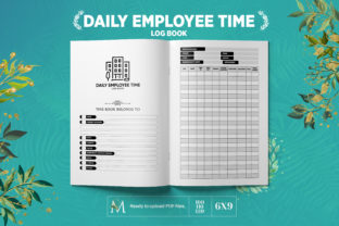 Print on Demand: Daily Employee Time Log Book for KDP Graphic KDP Interiors By Mehwishgraphics