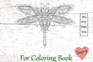 Dragonfly for Adult Coloring Book Graphic Coloring Pages & Books Adults By somjaicindy