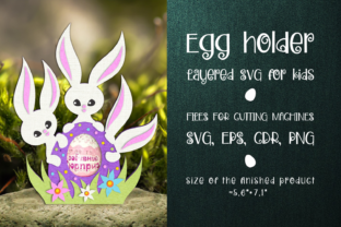 Print on Demand: Easter Bunnies -Chocolate Egg Holder SVG Graphic 3D SVG By Olga Belova