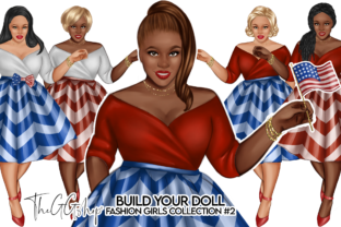 Print on Demand: Fashion  Curvy Girls Cliparts Graphic Illustrations By TheGGShop