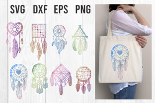 Print on Demand: Feather Dreams Dreamcatcher Clipart Set Graphic Illustrations By dadan_pm