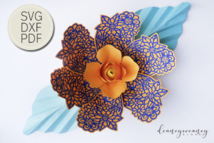 Flowerception Petal 4 Graphic 3D Flowers By Deaney Weaney Blooms
