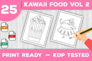 Print on Demand: Kawaii Food Coloring Pages Vol 2 Graphic Coloring Pages & Books Kids By TrendColors