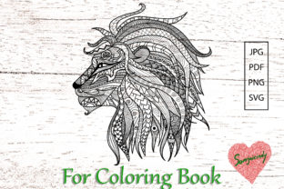 Lion for Adult Coloring Book Graphic Coloring Pages & Books Adults By somjaicindy