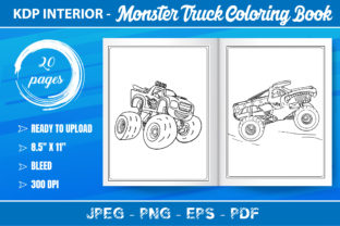 Monster Truck Coloring Book Kids Graphic Coloring Pages & Books Kids By KDP Mastery