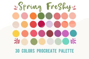 Procreate Color Palette Spring Freshy Graphic Actions & Presets By Chubby Design