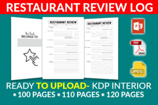 Print on Demand: Restaurant Review Logbook- KDP Interior Grafik KPD Innenseiten von KDP Squad