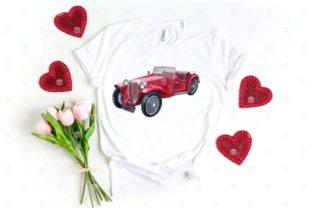 Print on Demand: Retro Cars Watercolor Clipart, Vintage Graphic Illustrations By Marine Universe 5