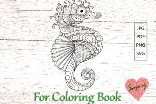 Seahorse for Adult Coloring Book Graphic Coloring Pages & Books Adults By somjaicindy