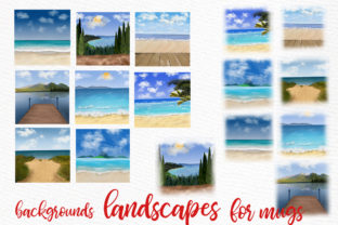 Print on Demand: Summer Landscapes Clipart Graphic Illustrations By LeCoqDesign 2