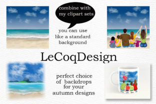 Print on Demand: Summer Landscapes Clipart Graphic Illustrations By LeCoqDesign 3