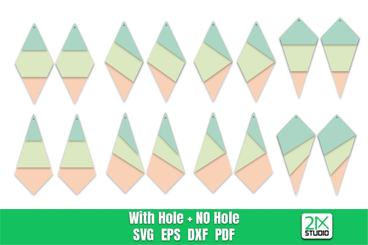 Triangle Earring SVG | Stacked Earring SVG File