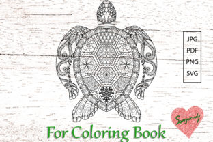Turtle for Adult Coloring Book Graphic Coloring Pages & Books Adults By somjaicindy