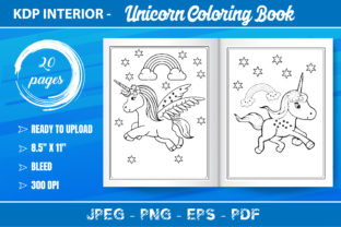 Unicorn Coloring Book for Kids Graphic Coloring Pages & Books Kids By KDP Mastery