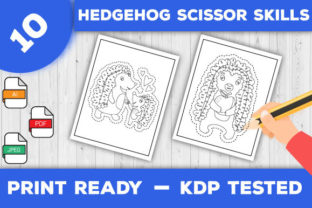 Print on Demand: Hedgehog Scissor Skills Pages for Kids Graphic Coloring Pages & Books Kids By TrendColors 1