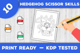 Print on Demand: Hedgehog Scissor Skills Pages for Kids Graphic Coloring Pages & Books Kids By TrendColors 2