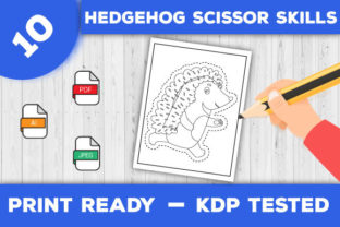 Print on Demand: Hedgehog Scissor Skills Pages for Kids Graphic Coloring Pages & Books Kids By TrendColors 3