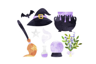 Witchy Elements Diseños y Dibujos Archivo de Corte Craft Por Creative Fabrica Crafts