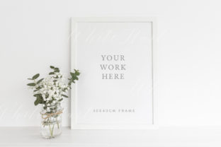 A3 Frame Mockup Graphic Product Mockups By White Hart Design Co.