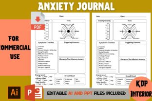 Print on Demand: Anxiety Journal | KDP Interior Graphic KDP Interiors By Cool Worker
