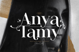 Print on Demand: Anya Tamy Serif Font By StringLabs