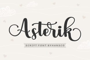 Print on Demand: Asterik Script & Handwritten Font By HansCo