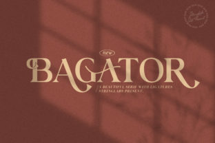 Print on Demand: Bagator Serif Font By StringLabs