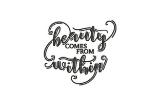 Beauty Comes from Within Remembrance Embroidery Design By DigitEMB