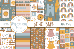 Print on Demand: Boho Baby Pattern Set Graphic Patterns By poppymoondesign