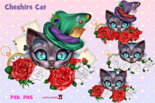 Print on Demand: Cheshire Cat PSDPNG Graphic Objects By ladymishka