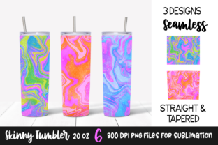Colorful Marble Skinny Tumbler Designs Graphic Print Templates By VR Digital Design