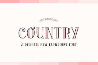 Print on Demand: Country Serif Font By Salt & Pepper Designs