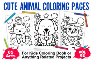 Cute Animal Coloring Pages | Vol 02 Graphic Coloring Pages & Books Kids By XpertDesigner