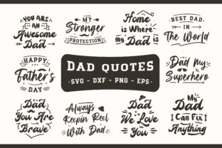 Print on Demand: Dad Quotes Bundle Graphic Print Templates By TypeFactory