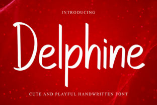 Print on Demand: Delphine Script & Handwritten Font By dazzlinggleam