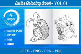 Easter Coloring Book for Kids Graphic Coloring Pages & Books Kids By KDP Mastery