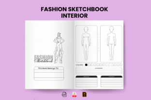 Fashion Sketchbook KDP Interior Template Graphic KDP Interiors By Design invention
